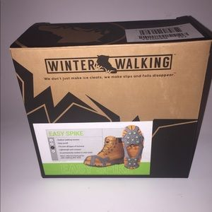 WINTER WALKING Ice Cleat,Ball, Heel,Stud,Large